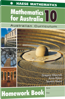 Mathematics for Australia 10 Homework Book