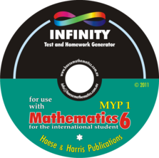 INFINITY Question Database - Mathematics for the International Student 6 (MYP 1) (1st edition)