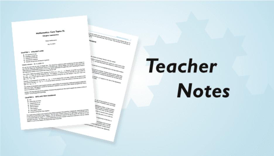 IB Diploma Courses – Teacher Notes – Haese Mathematics